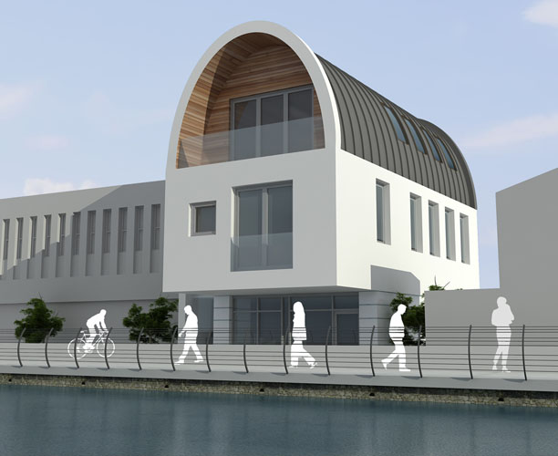 Riverside house sketch up or concept architectural visualisation